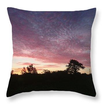 June Sunrise Throw Pillow