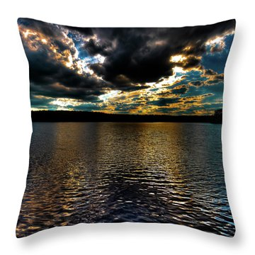 Throw Pillow featuring the photograph June Sunset On Nicks Lake by David Patterson