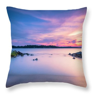 June Sunset On The River Throw Pillow