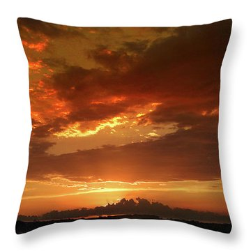 Throw Pillow featuring the photograph June Sunset by Rod Seel