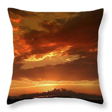 June Sunset Throw Pillow