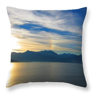 Juneau, Alaska Throw Pillow