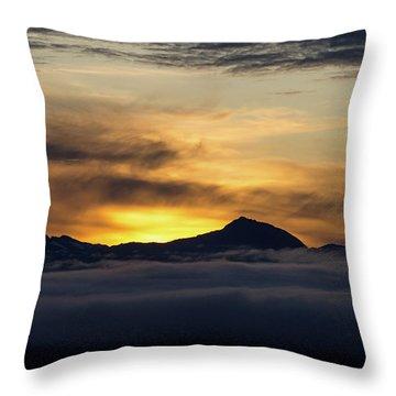 Juneau Morning Throw Pillow
