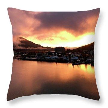 Juneau Sunset Throw Pillow