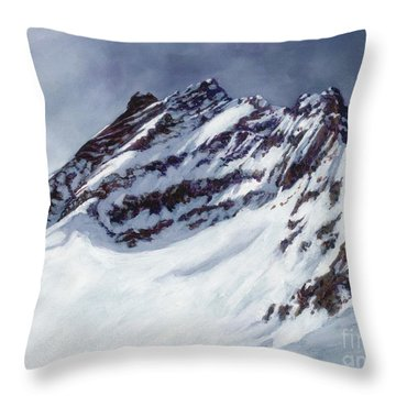 Jungfrau - Swiss Alps Throw Pillow