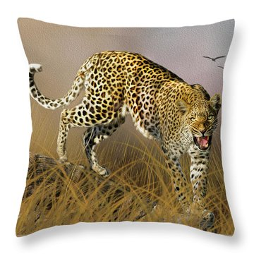 Throw Pillow featuring the photograph Jungle Attitude by Diane Schuster