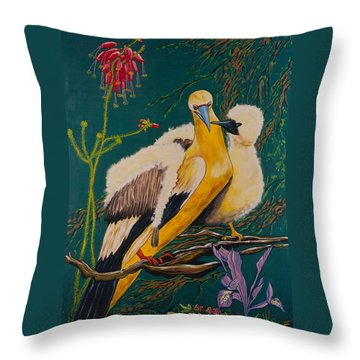 Jungle Baby Throw Pillow by V Boge