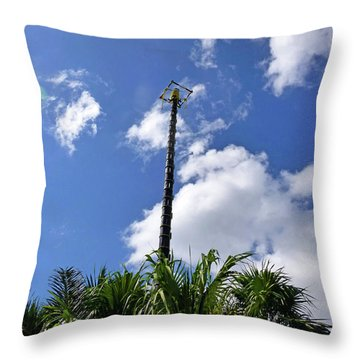 Throw Pillow featuring the photograph Jungle Bungee Tower by Francesca Mackenney