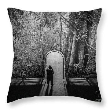 Jungle Entrance Throw Pillow