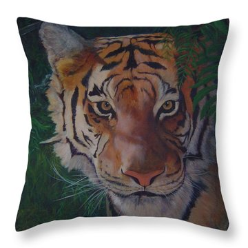 Jungle Eyes Throw Pillow