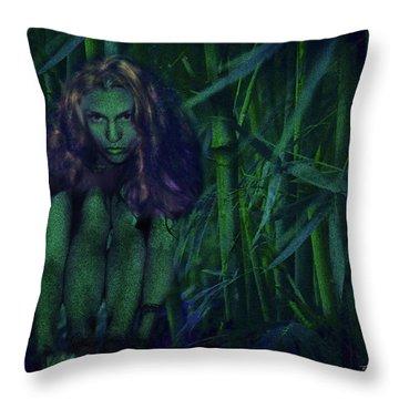 Jungle Fairy Throw Pillow