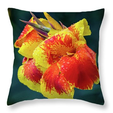 Jungle Flowers Throw Pillow