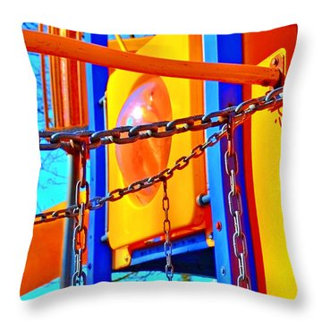 Jungle Gym Throw Pillow