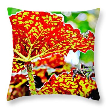 Throw Pillow featuring the photograph Jungle Leaf by Mindy Newman