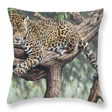 Jungle Outlook Throw Pillow