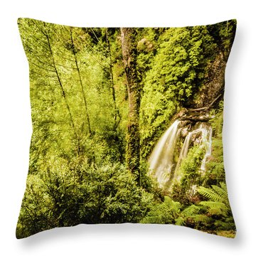 Jungle Steams Throw Pillow
