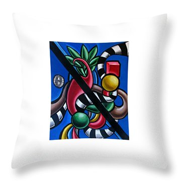 Colorful 3d Abstract Art Painting - Multicolored Original Artwork - Tropical  Throw Pillow
