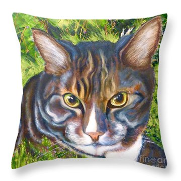 Jungle Tabby Throw Pillow