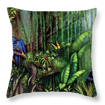 Jungle Talk Throw Pillow