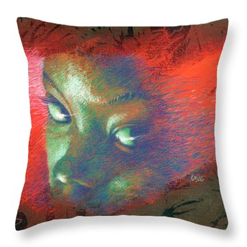 Junglevision Throw Pillow by Ken Meyer