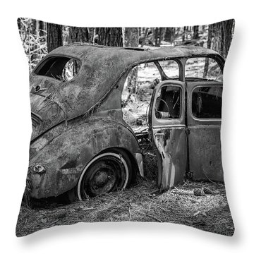 Junked Cars Throw Pillow