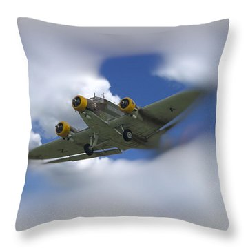 Junker Ju 52/3 Tri-motor Throw Pillow