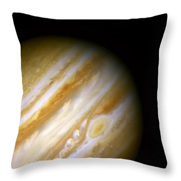 Jupiter And The Great Red Spot Throw Pillow by Jennifer Rondinelli Reilly - Fine Art Photography
