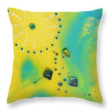 Jupiter Blue Throw Pillow