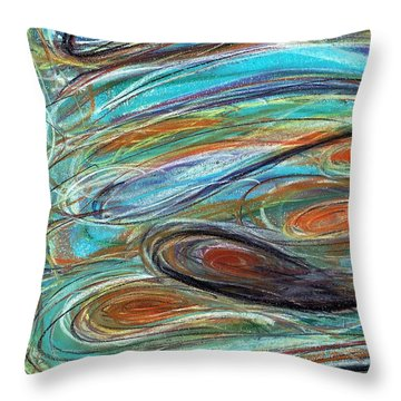 Jupiter Explored - An Abstract Interpretation Of The Giant Planet Throw Pillow