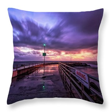 Jupiter Inlet Jetty Throw Pillow