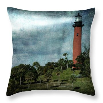 Jupiter Lighthouse-2a Throw Pillow