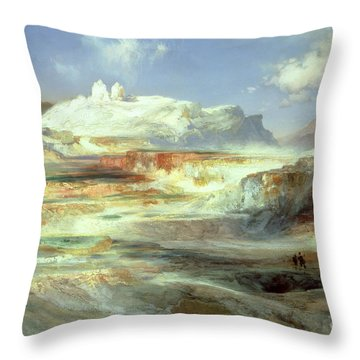 Jupiter Terrace Throw Pillow by Thomas Moran
