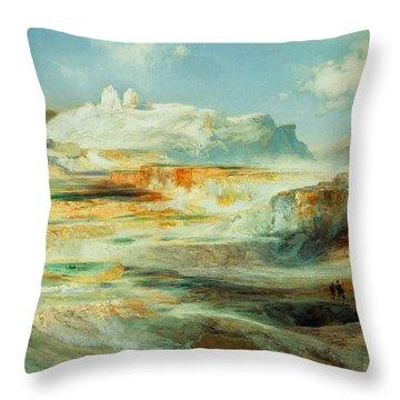 Jupiter Terrace  Yellowstone Throw Pillow
