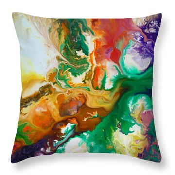Jupiters Moons Throw Pillow