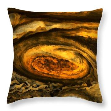 Jupiter's Storms. Throw Pillow