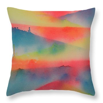 Jupiter's Window Throw Pillow by Patrick Morgan