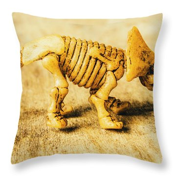 Jurassic Toy Triceratops Throw Pillow