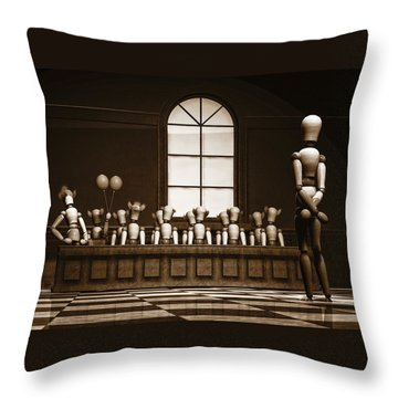 Jury Of Your Peers Throw Pillow by Bob Orsillo