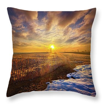Throw Pillow featuring the photograph Just A Bit More To Go by Phil Koch