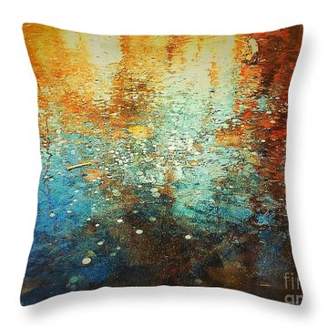 Throw Pillow featuring the digital art Just A Happy Day by Delona Seserman