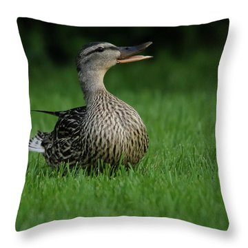 Just A Happy Duck Throw Pillow