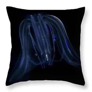 Just A Jellyfish Throw Pillow by Jeremy Martinson