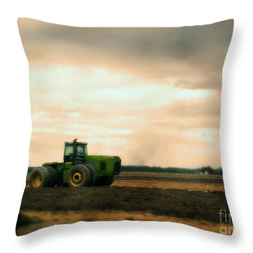 Just A John Deere Memory Throw Pillow by Janie Johnson