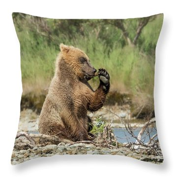 Just A Little Fiber Throw Pillow