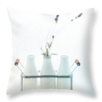 Throw Pillow featuring the photograph Just A Little Lavender by Rebecca Cozart
