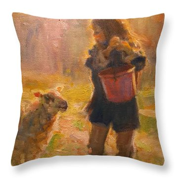 Just A Minute Throw Pillow