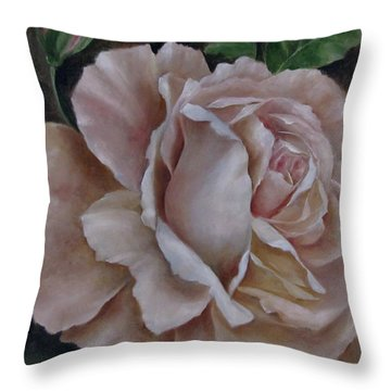 Just A Rose Throw Pillow