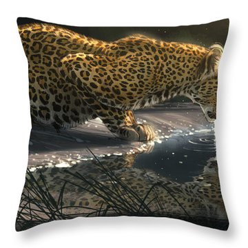 Just A Sip Throw Pillow by Aaron Blaise