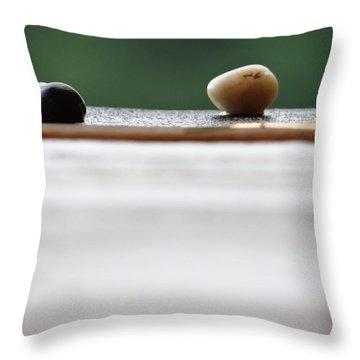 Just A Stones Throw Away Throw Pillow