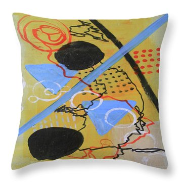 Just Above The Line Throw Pillow